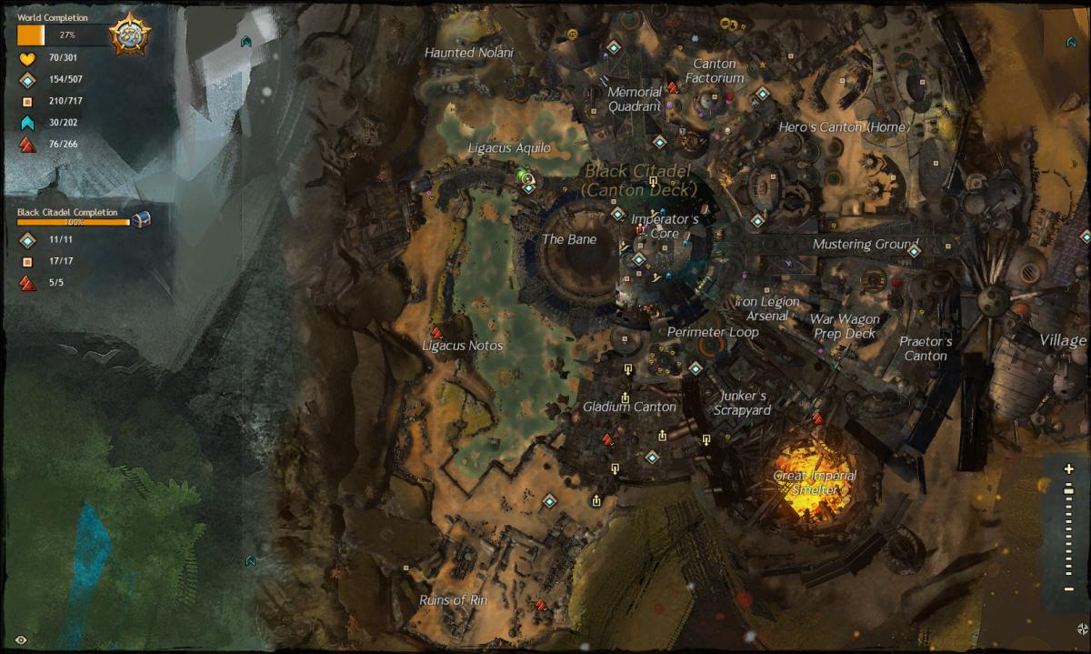 """Guild Wars 2"" Vista Location Guide: Black Citadel"