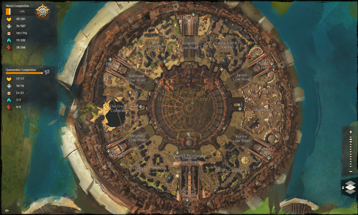 Divinity's Reach city map.