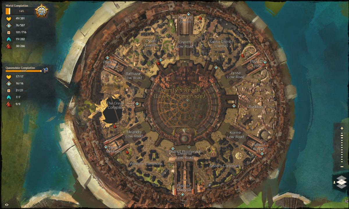 """Guild Wars 2"" Vista Location Guide: Divinity's Reach"
