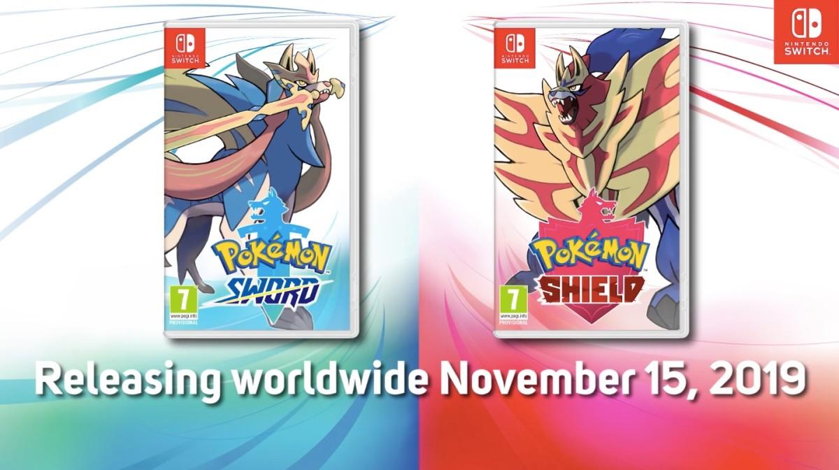 Pokémon Sword and Shield will release worldwide November 15, 2019.
