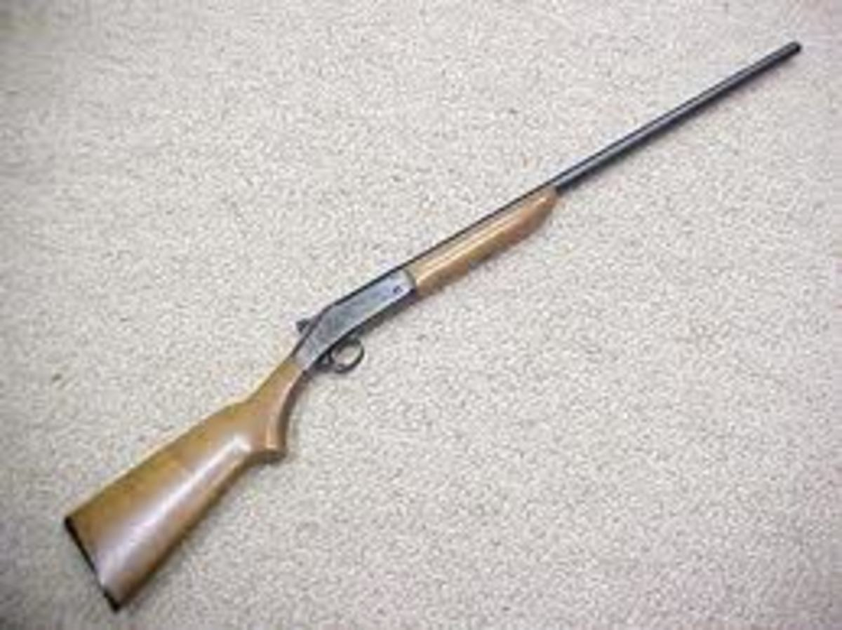 The Harrington and Richardson Single Shot 20 Gauge Shotgun.