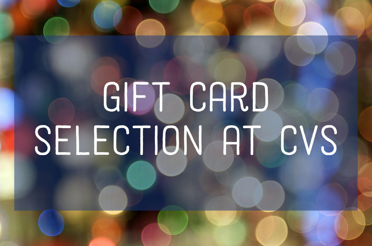 Find out what types of gift cards are available at CVS stores.