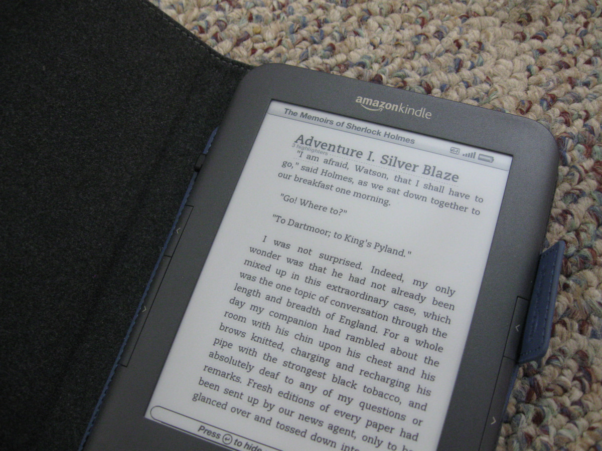 The Kindle is easy to use.