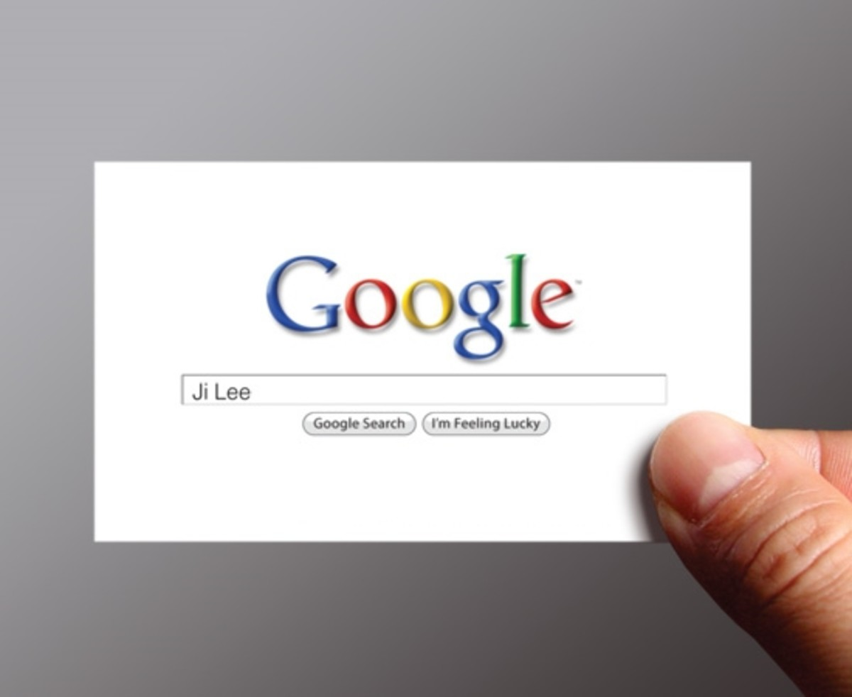 Google Me Social Media Business Card