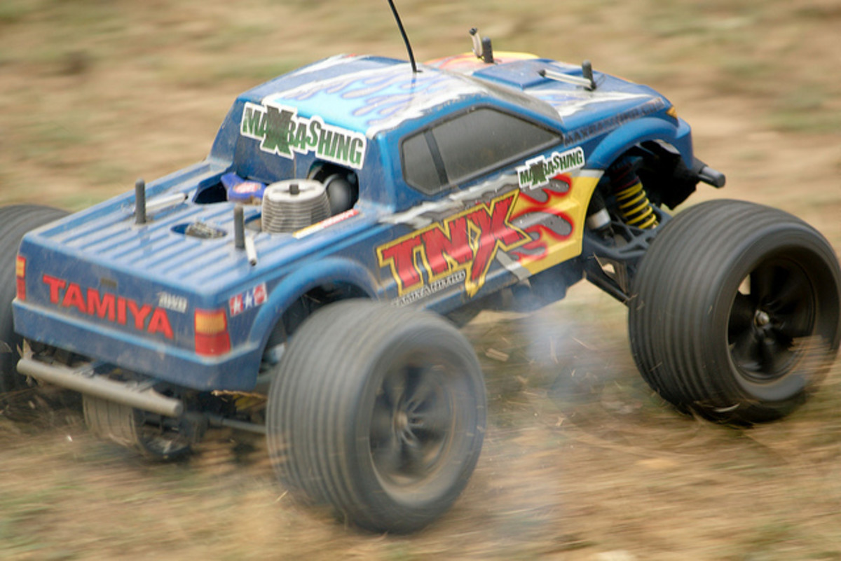On this type of open-wheeled RC vehicle, the shock tower is fully visible