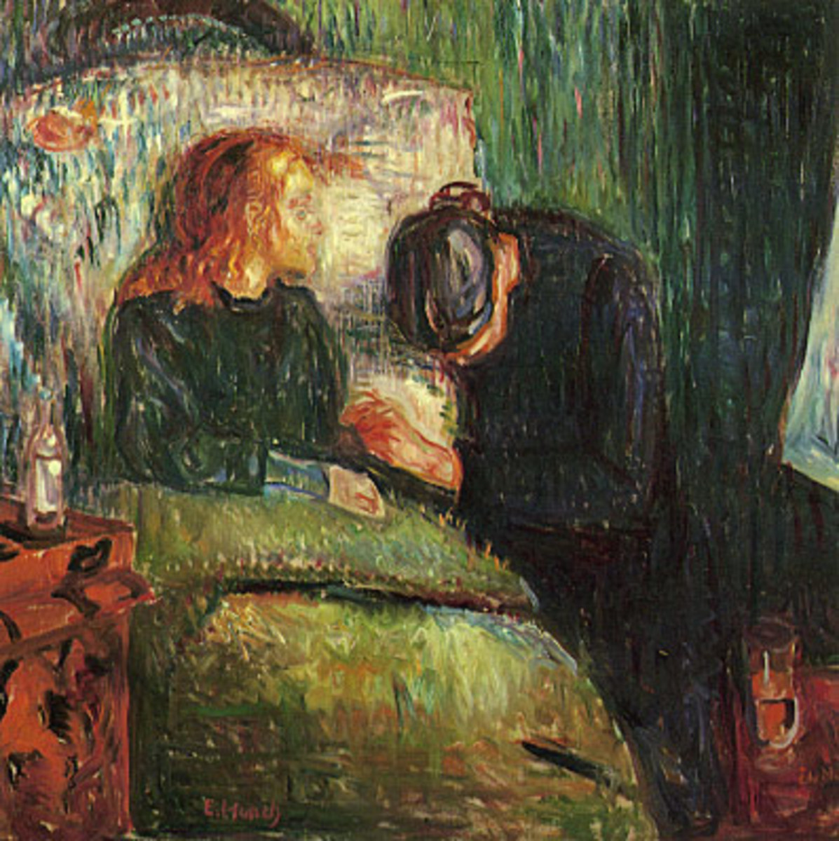 "Painting by Edward Munch, ""The Sick Child"""