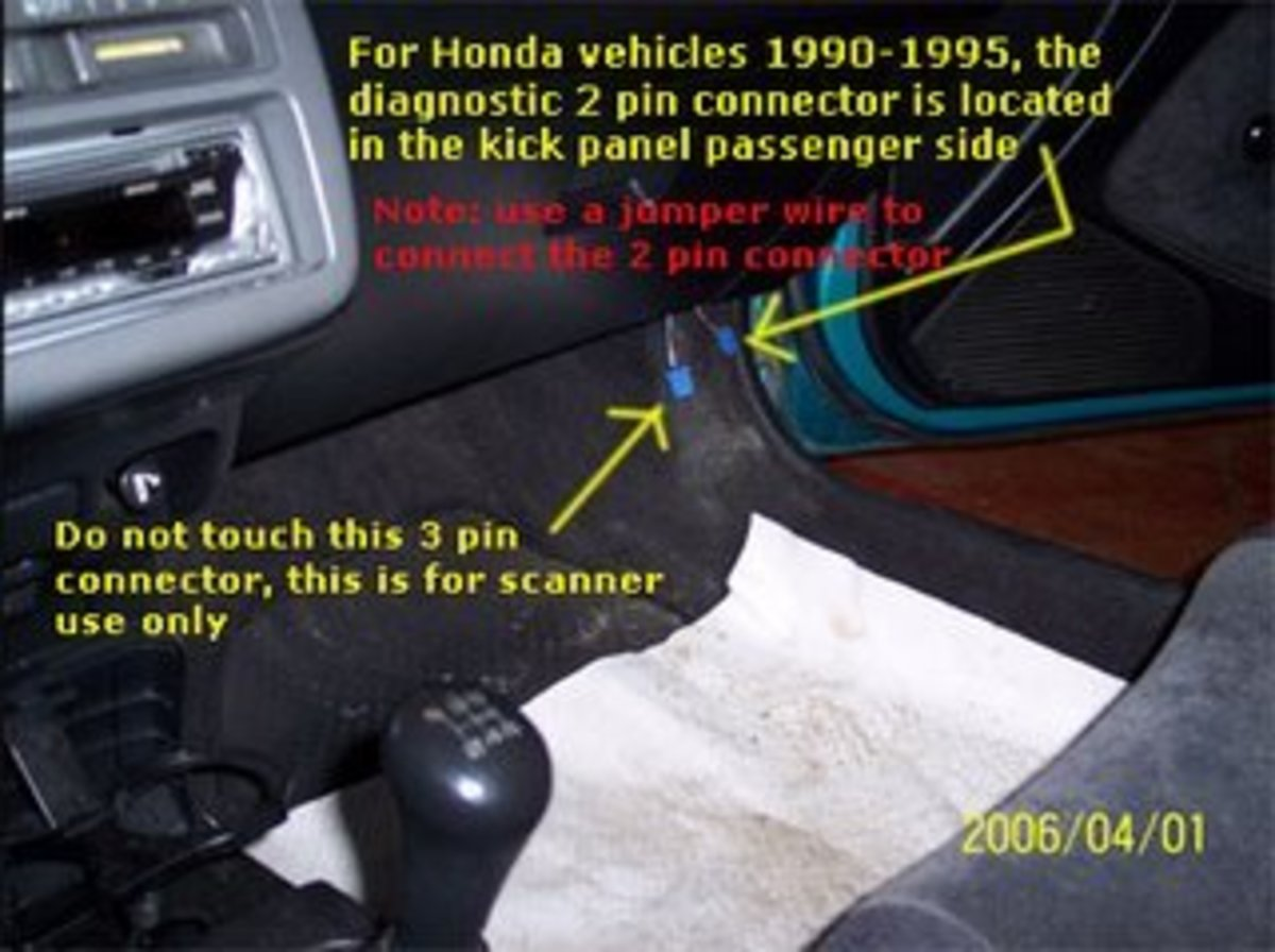 "Honda and Acura OBD1 ""Check Engine Light"" Trouble Codes (1992-1995)"