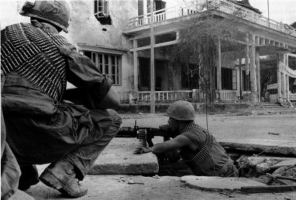 US Marines fighting in Hu