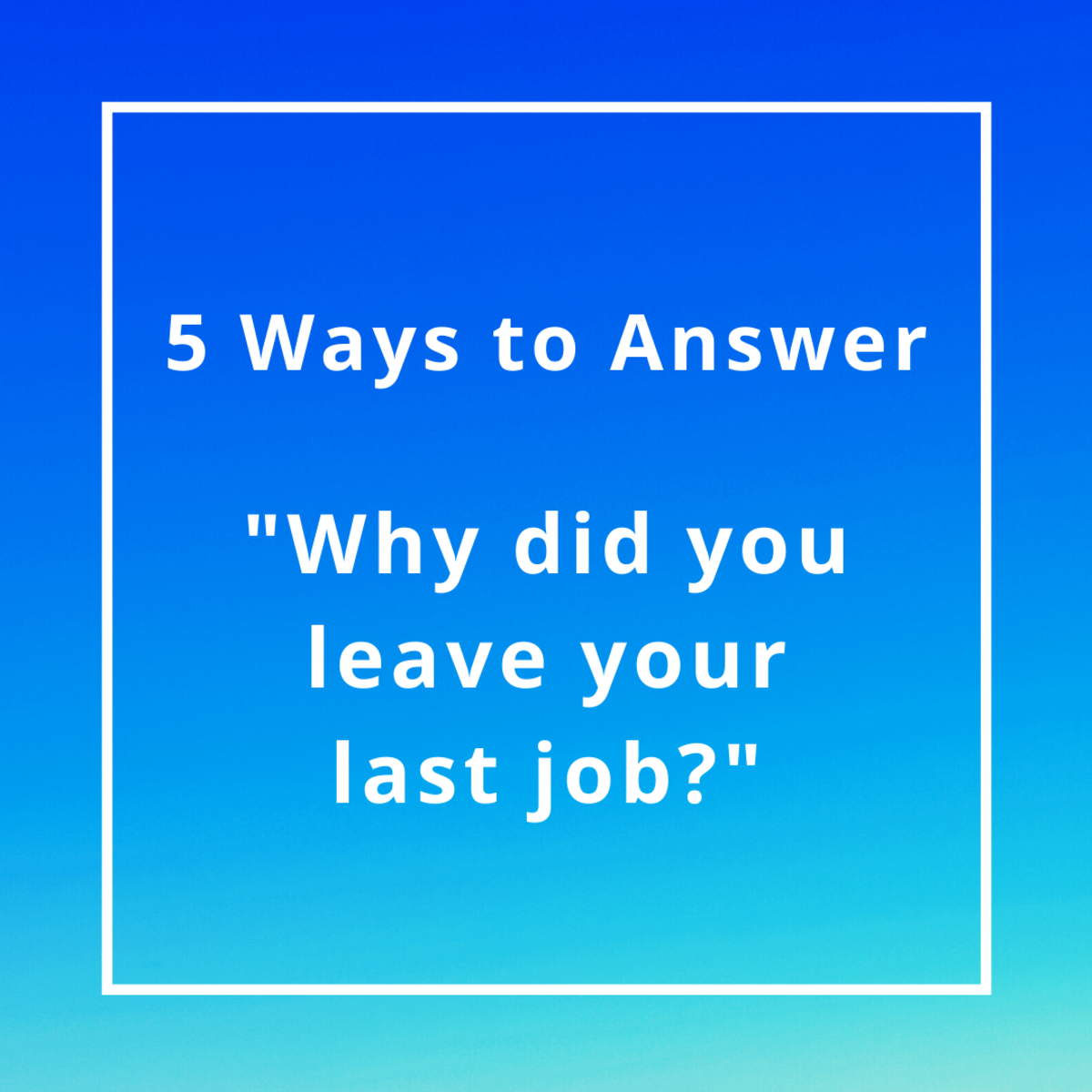 Learn how to handle this common interview question.