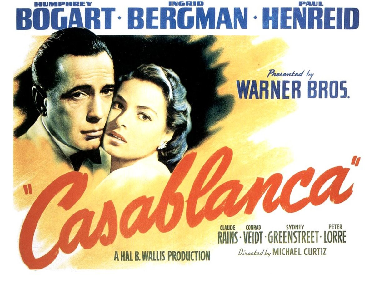 Casablanca -- one of best romantic movies.