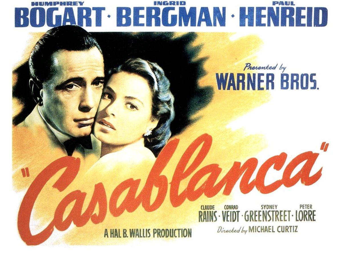 Casablanca -- one of best romantic movies.