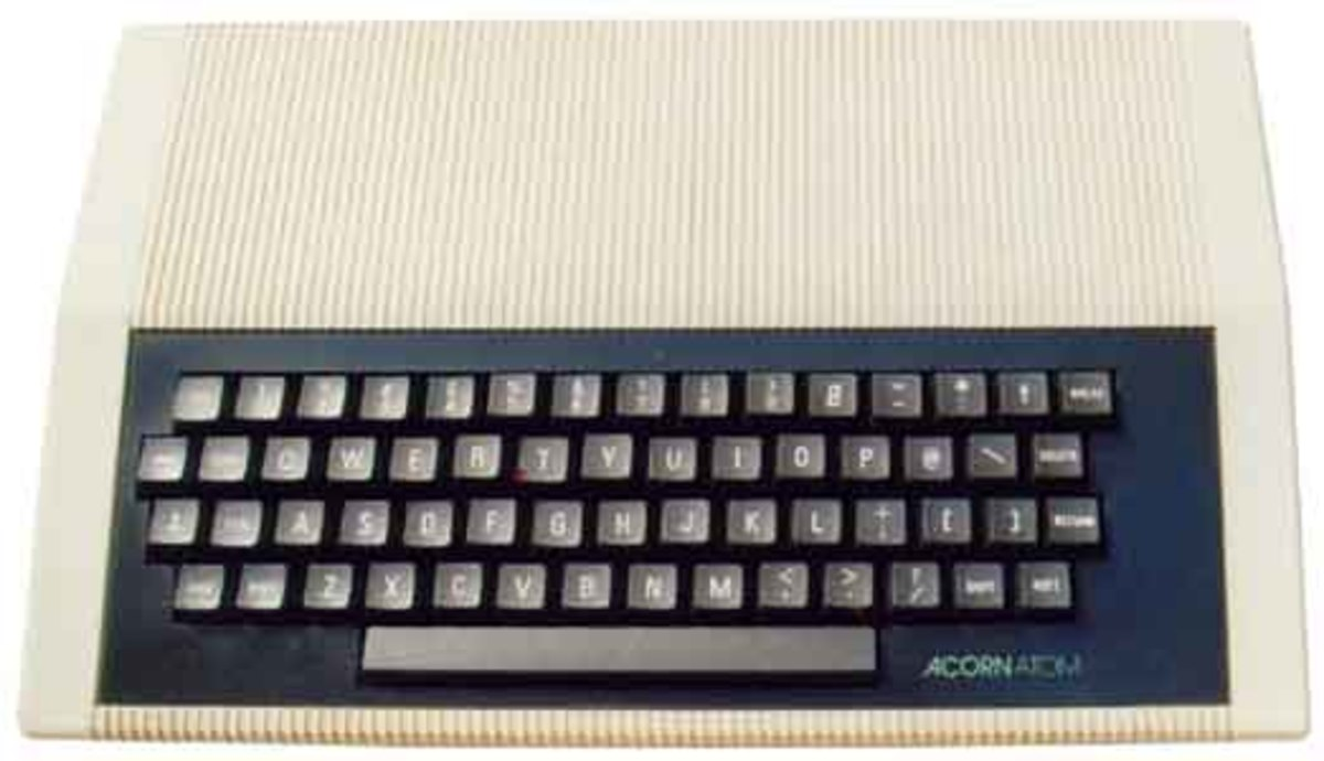 The Acorn Atom must have laid the template for the looks of future Acorn machines