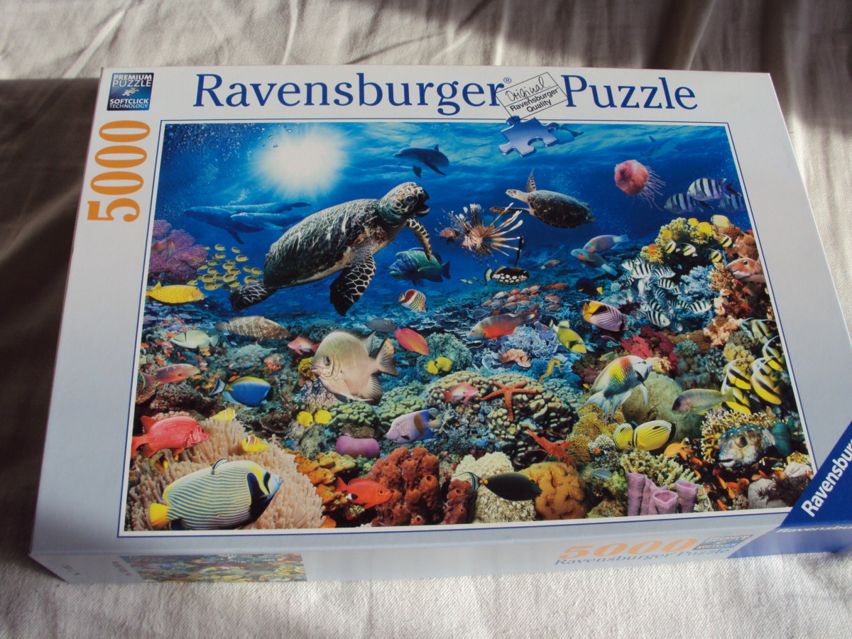 How to Build a 5000 Piece Ravensburger Jigsaw Puzzle