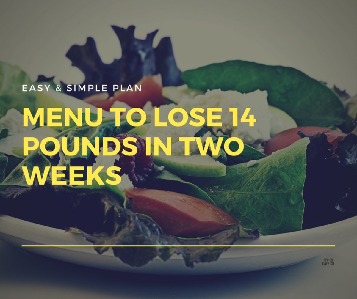 Menu to Lose 14 Pounds in Two Weeks