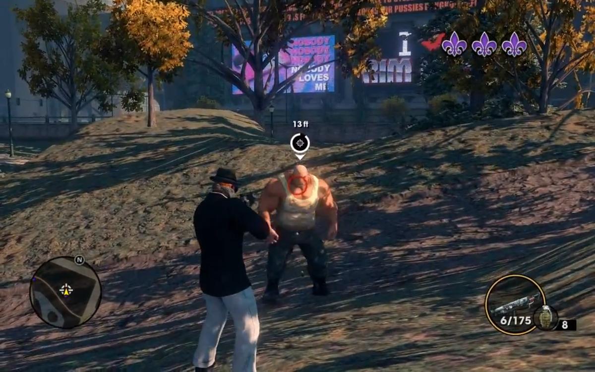 A few shotgun shells to Brutus' big head will help put him down quickly.