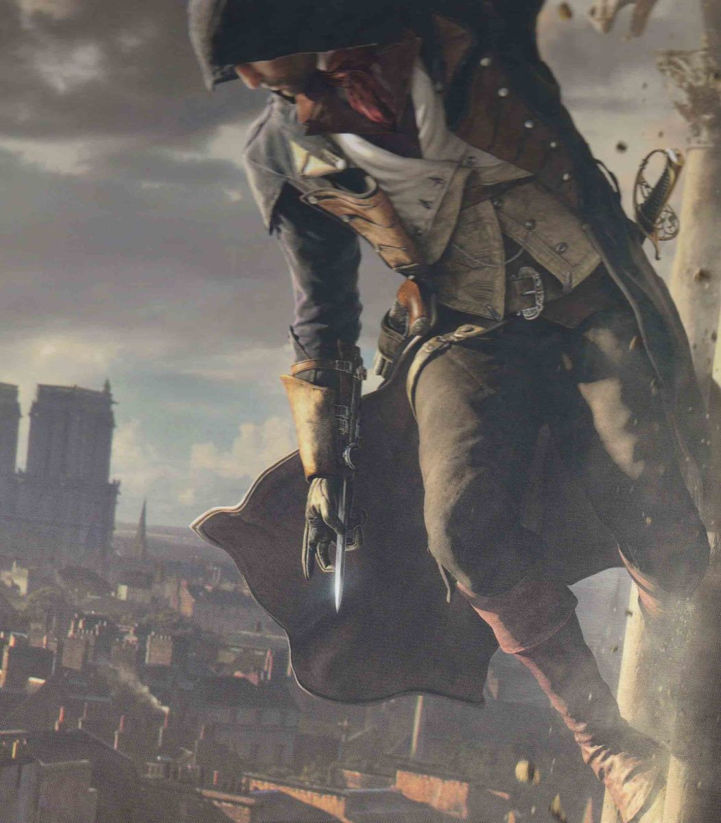 To fly like a gargoyle in the city of Paris is one a skill that Arno cannot unlock... yet.
