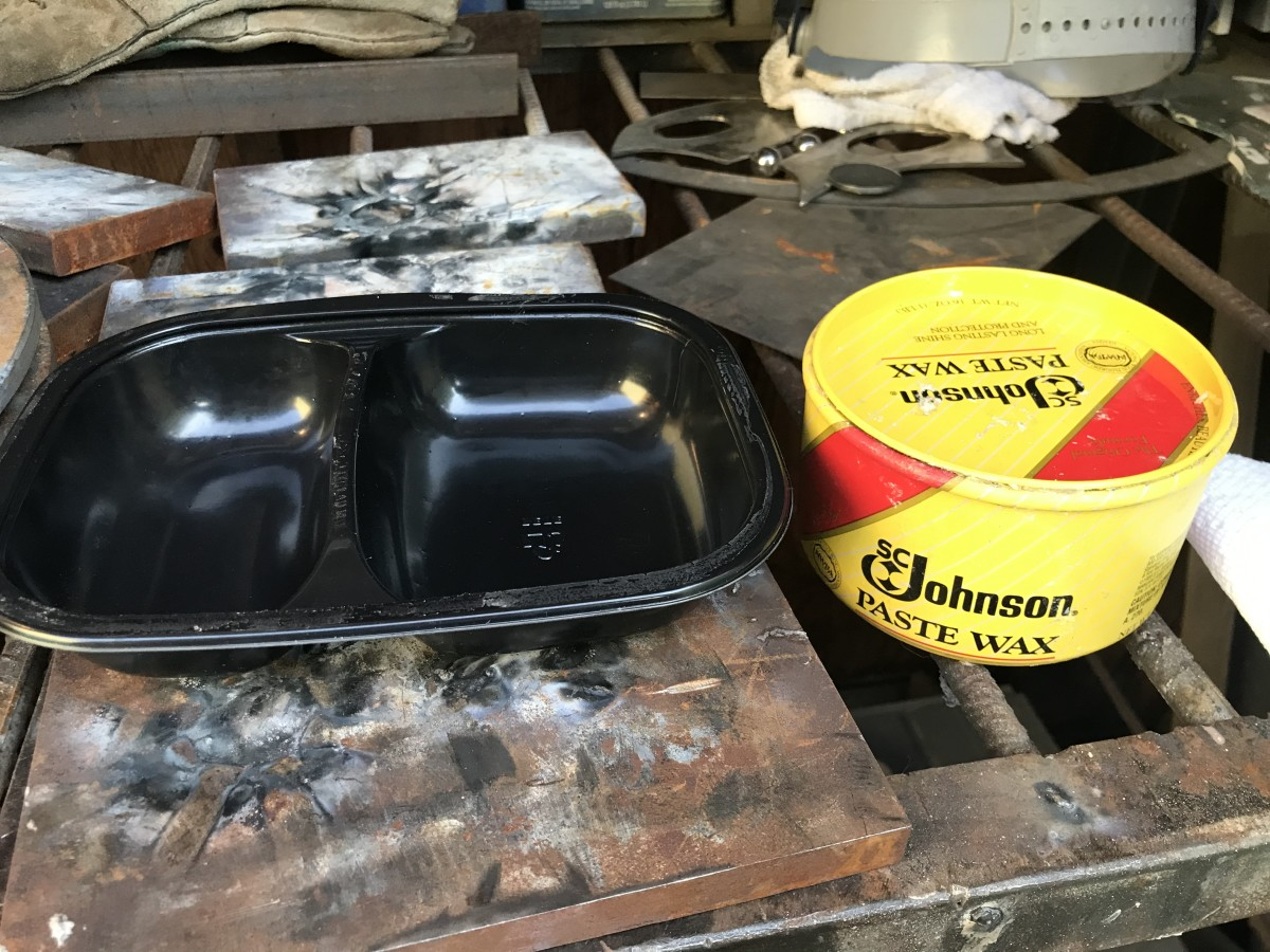 Clean Frozen Dinner Tray and Johnson Paste Wax