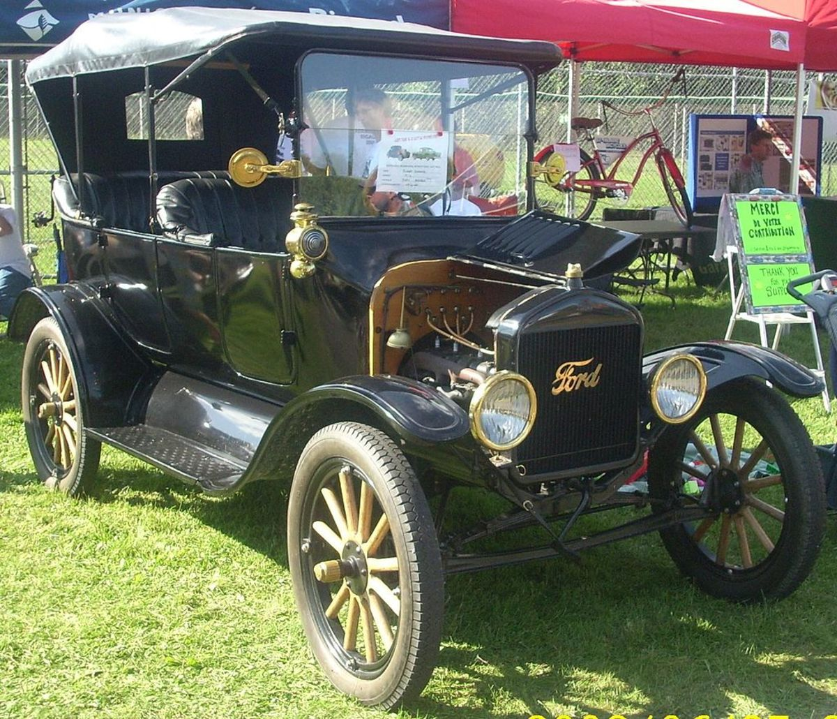 This 1916 Model T still had some brass fixtures but not as much as earlier models. In later years, manufacturing methods improved and the car shed its brass frills. The price went lower and lower -- to under $300.