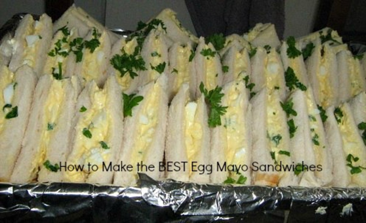 Learn how to make creamy egg mayo sandwiches at home