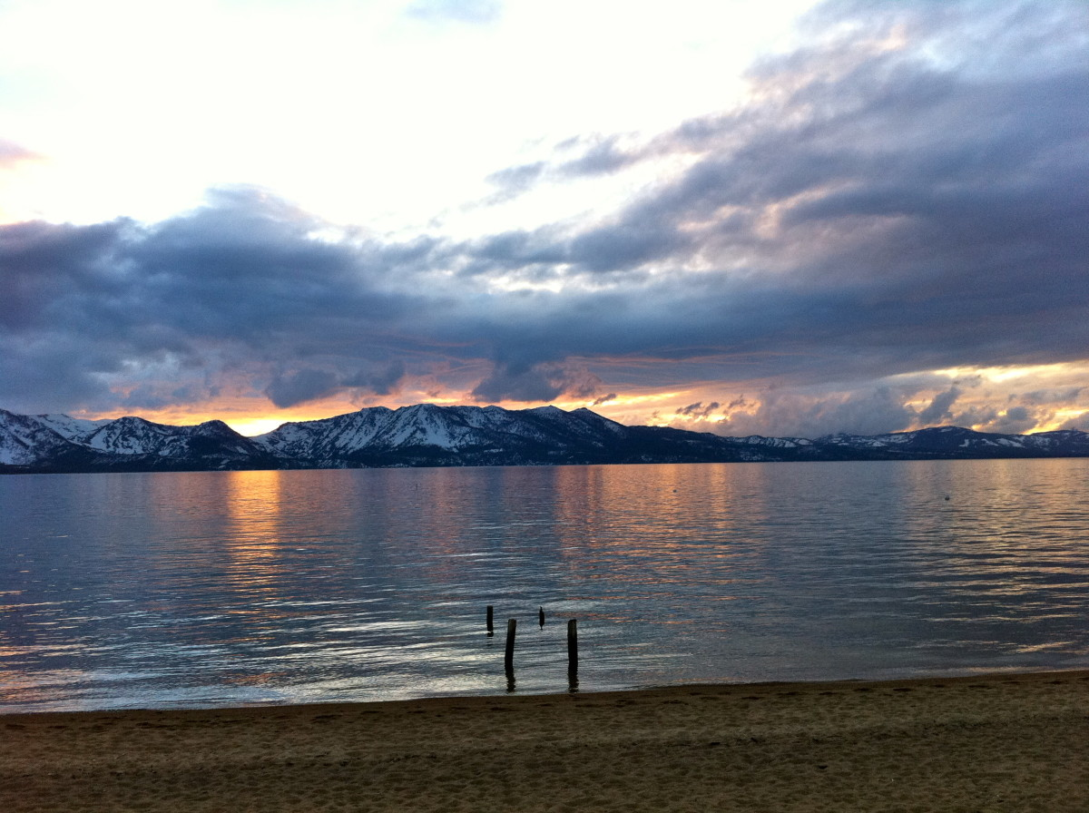 Driving to Tahoe doesn't have to be stressful with a little knowledge, skill and patience. And LOOK at that view- it's always, always worth it!!