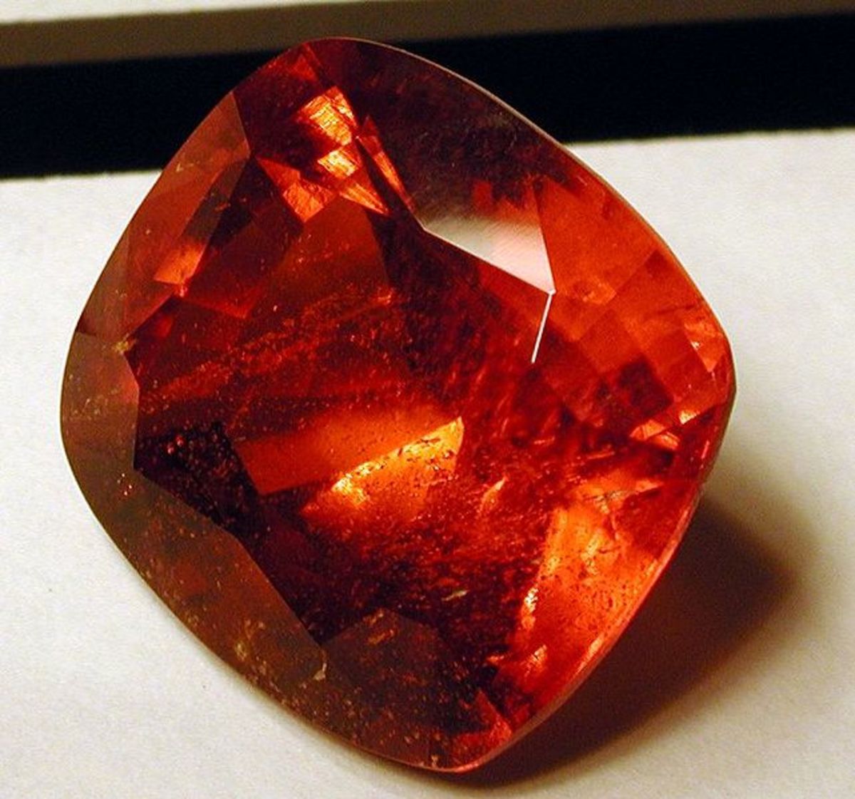 A gorgeous red gemstone.