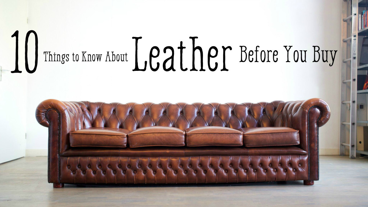 Leather Furniture Guide: Top Grain To Bonded Leather | Dengarden