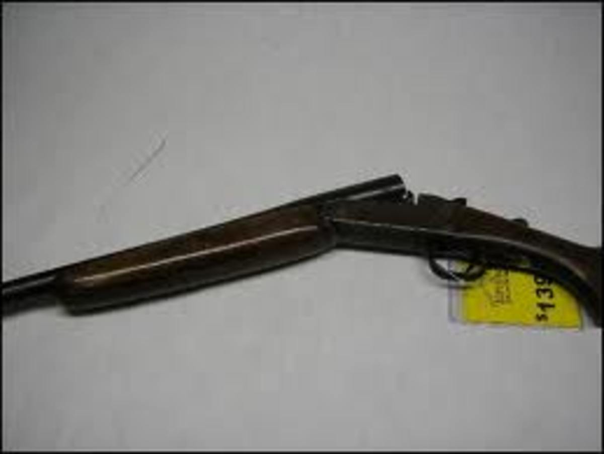 The Sears and Roebuck Single Shot Twenty Gauge Shotgun