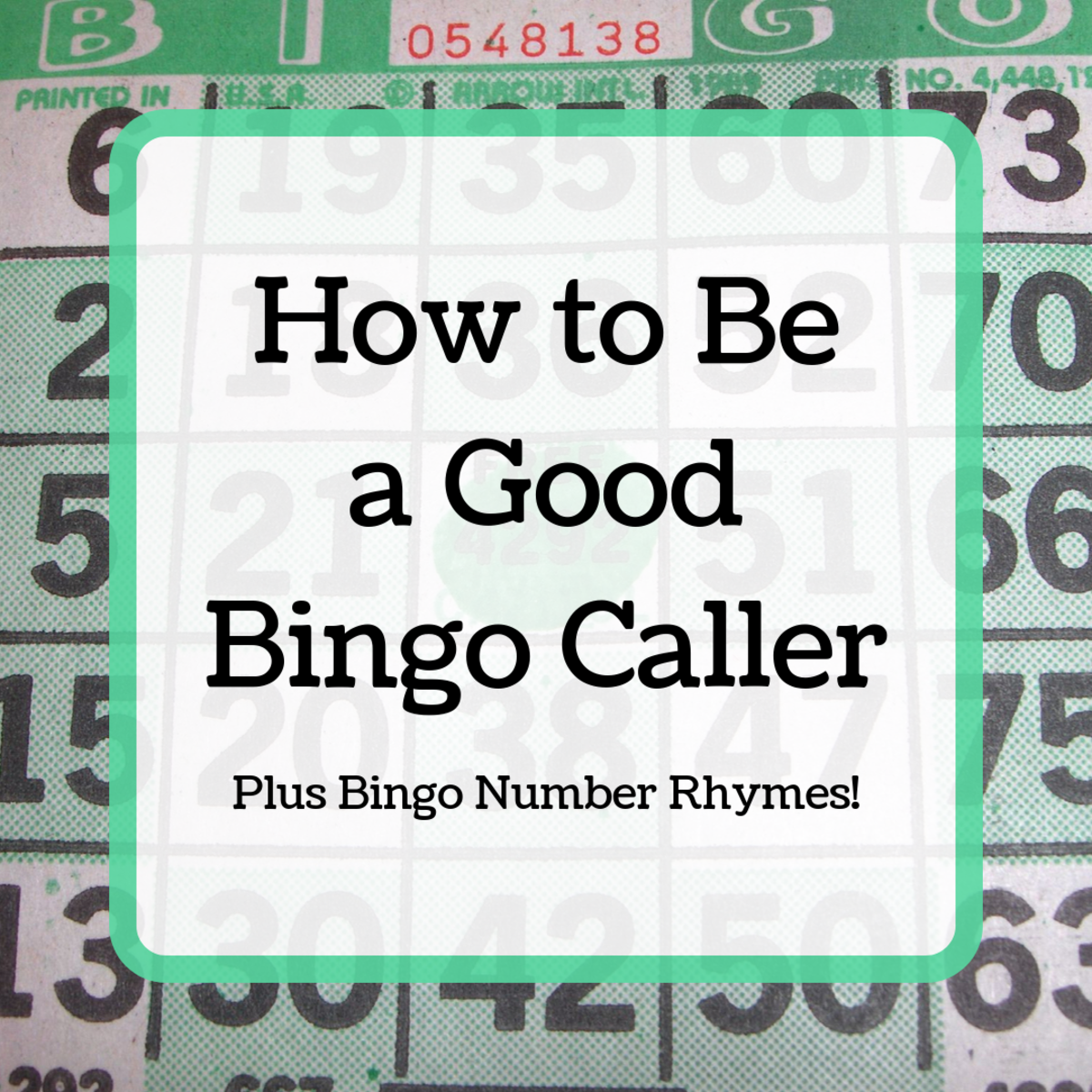 Tips for Calling Bingo (Including Bingo Number Rhymes)