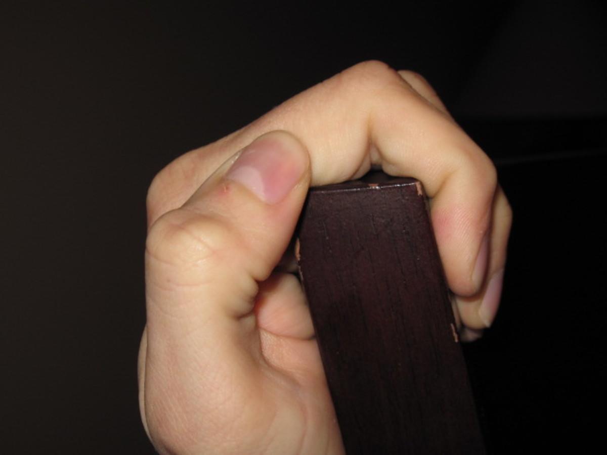 Open grip like used on a jug.