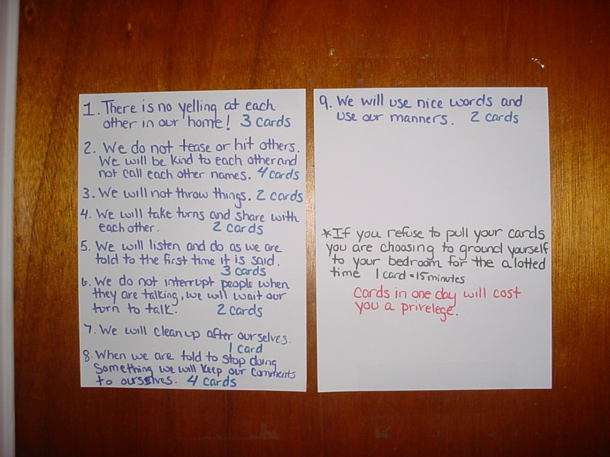 Household Rules and Good Behavior/Deed Cards for Children Ages 4-12