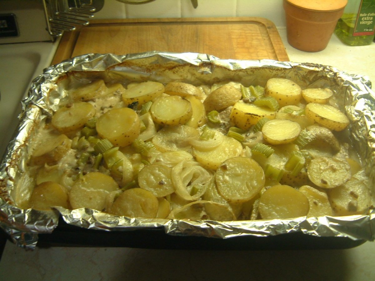 Baked Pork Chops cooked and ready to enjoy.