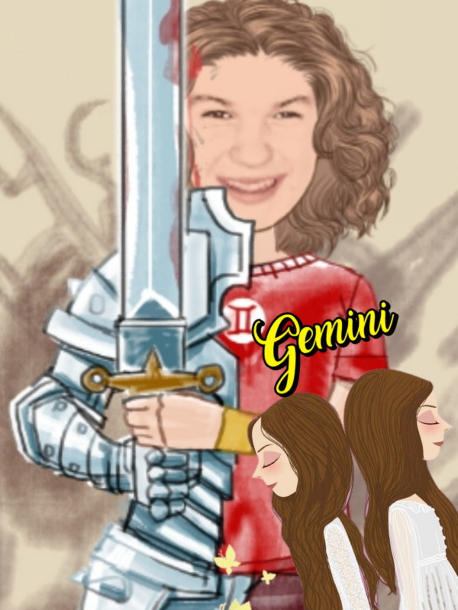 Geminis are busy! Picture made specifically for author, not for commercial use.
