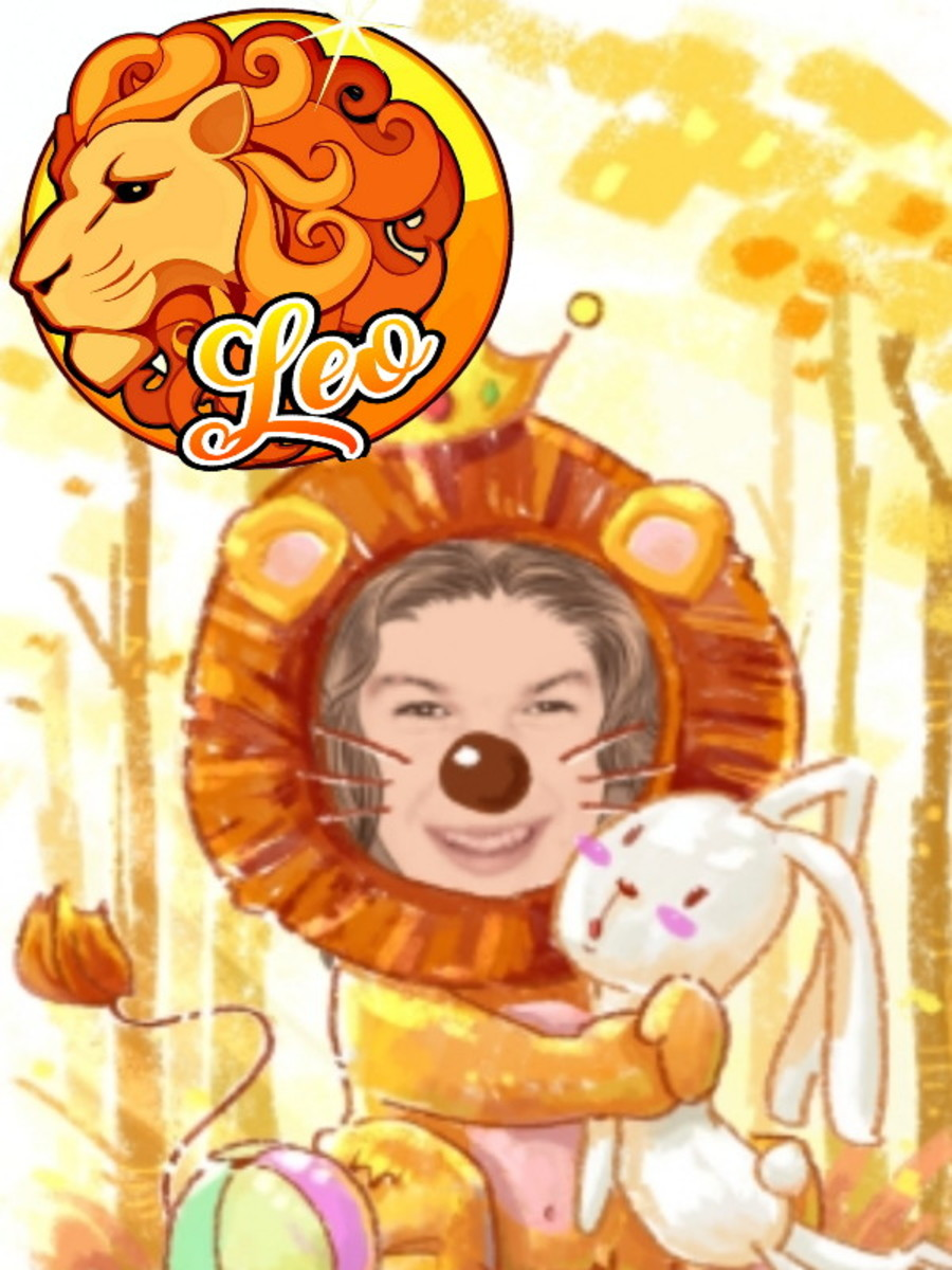 Leo the lion. Picture made specifically for author, not for commercial use.