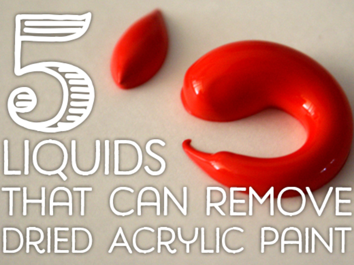 5 liquids that can remove dried acrylic paint from surfaces for Can you use emulsion paint on canvas