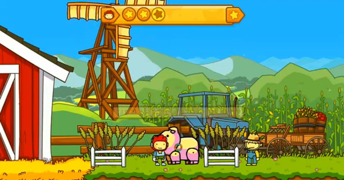 Scribblenauts Unlimited walkthrough: Edwin's Farm and Capital City