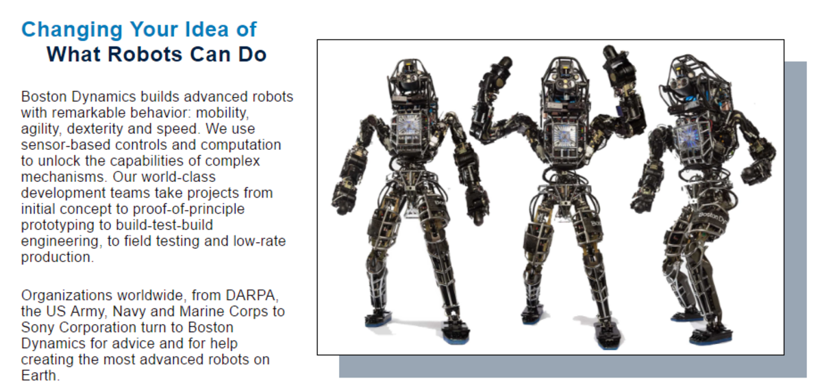 Here are some examples of the many different robots there are.