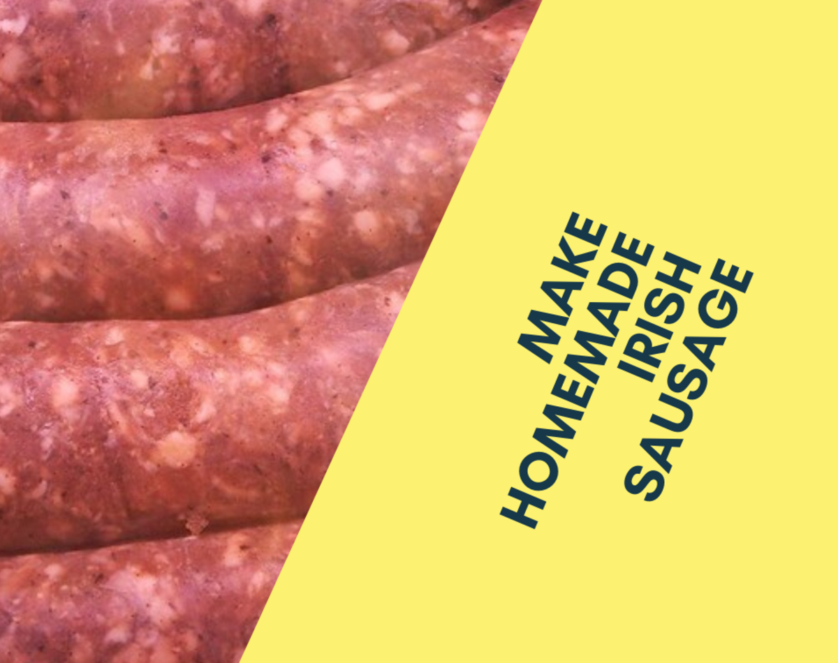 Irish sausage is a delicious meal that can be eaten all throughout the year.