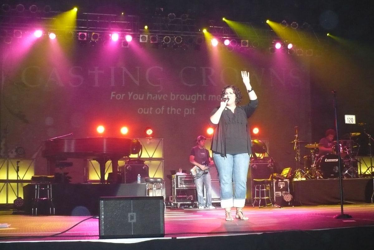 Megan Garrett of Casting Crowns live in concert, Bismarck, North Dakota. Photo credit: Cari Bousfield