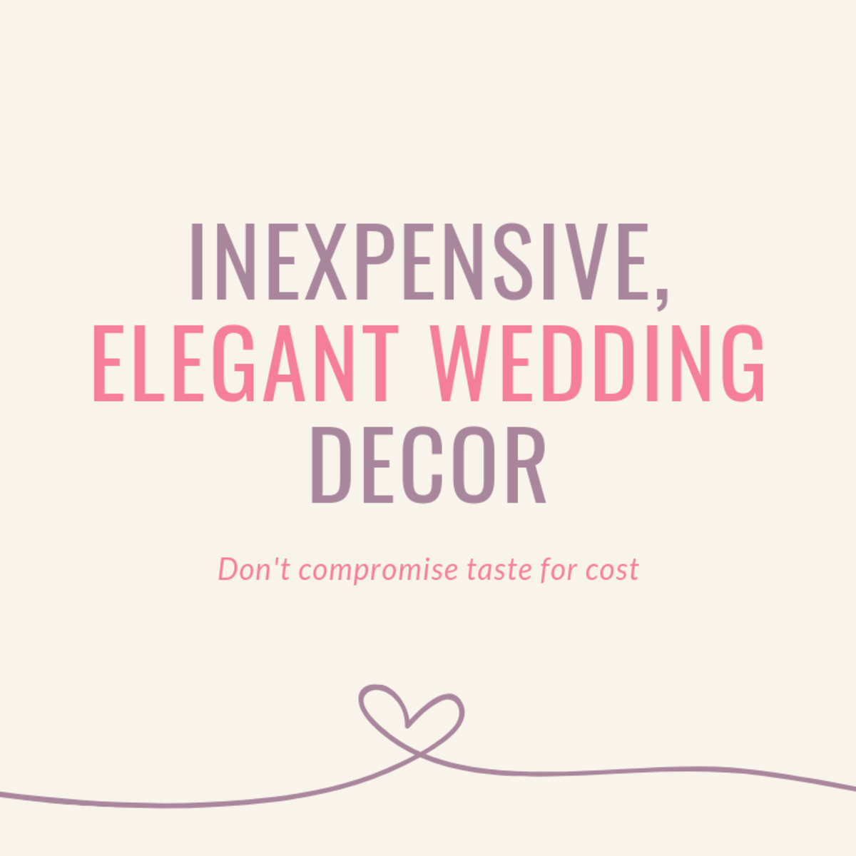 Inexpensive yet Elegant Wedding Reception Decorating Ideas & Tips