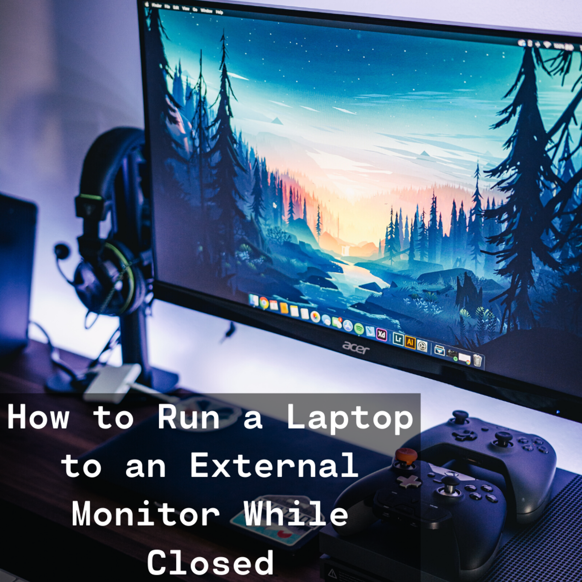 Learn how to hook up your laptop to an external monitor while keeping the laptop lid closed.