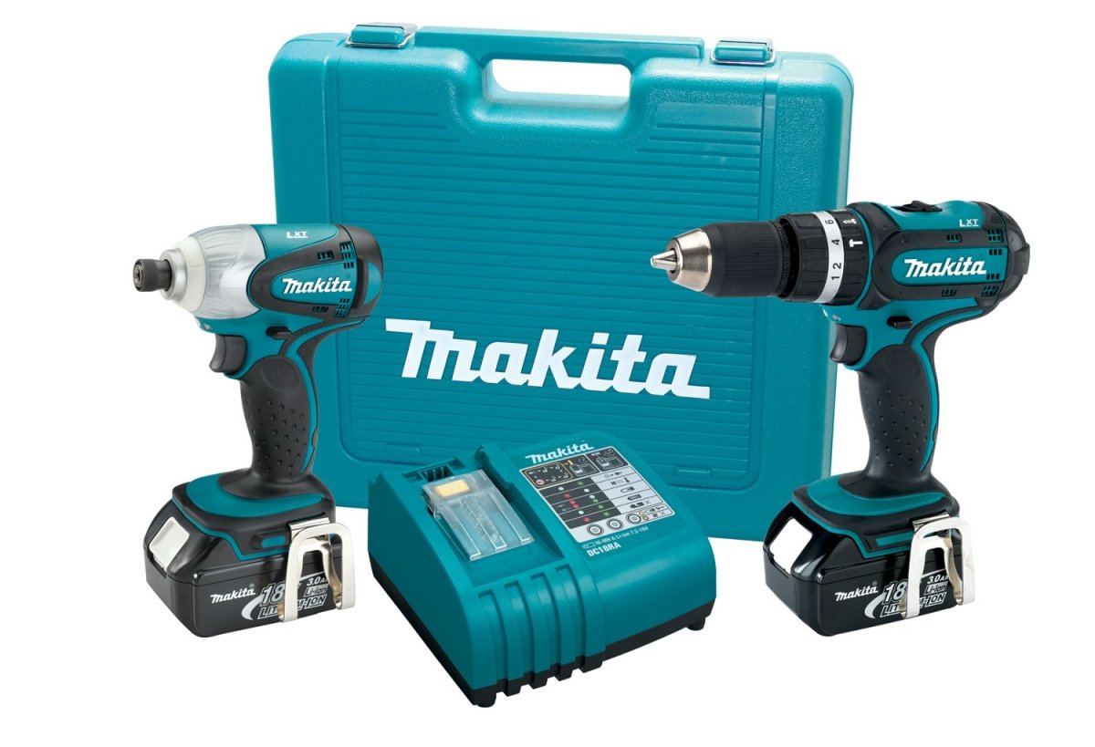 Powerful, dependable, and long-lasting—the Makita 18v Lithium-ion drill driver set