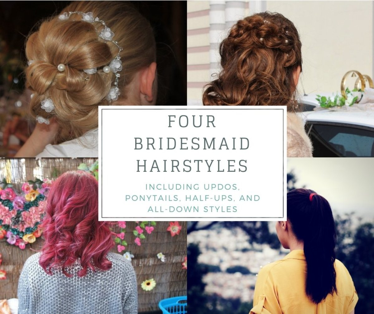 4 Bridesmaid Hairstyles: Updos, Half-up, Ponytail, and All Down