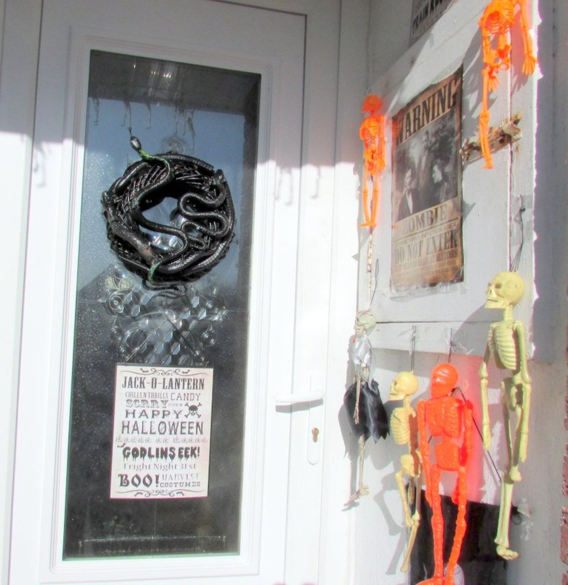 How to Make a Scary Halloween Wreath for Your Door