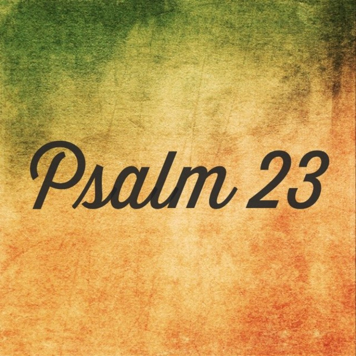 Psalm 23: A Sheep's Testimony