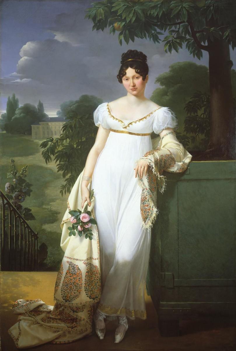 Regency style - white dress circa 1808