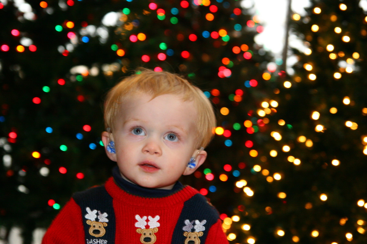 Hearing sleigh bells at Christmas time: the newborn hearing screening test allows children to receive hearing aids or cochlear implants at a very young age.