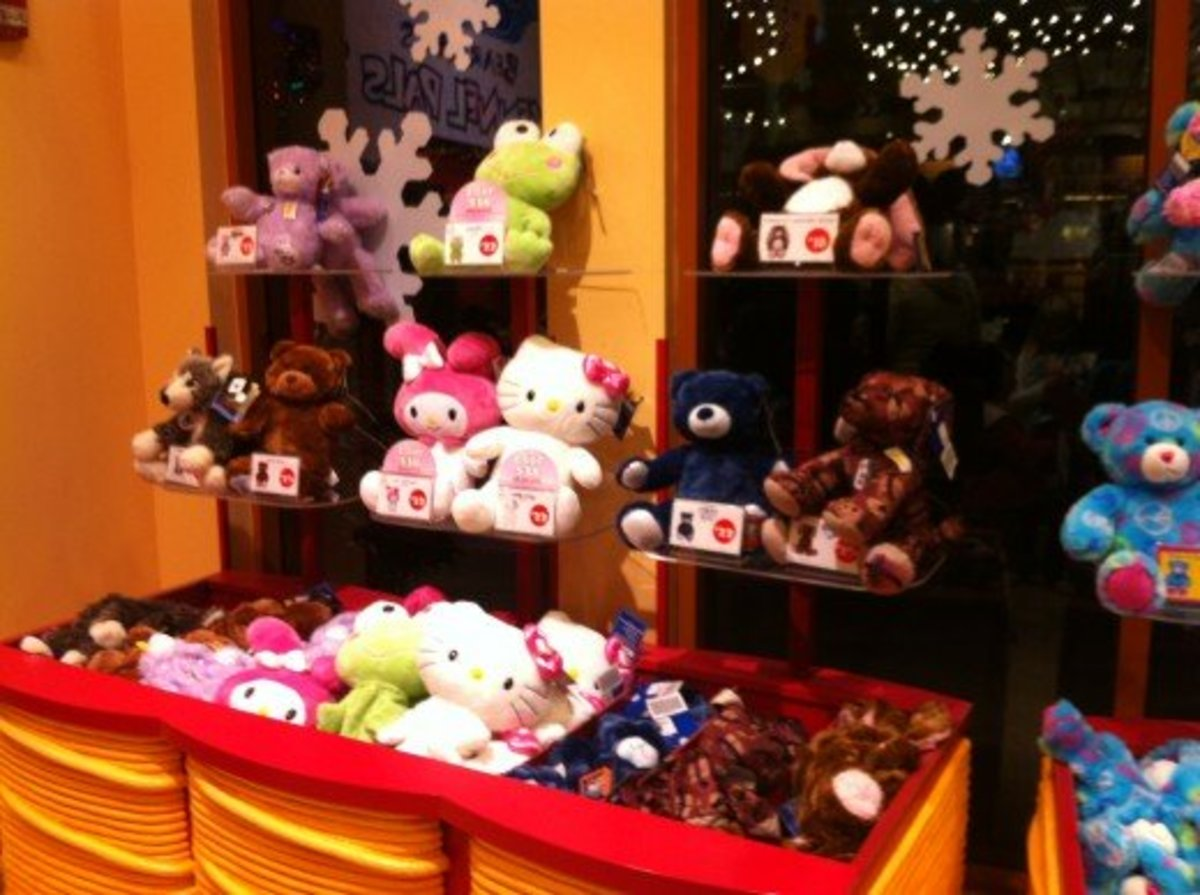 Some Sanio Characters at Disneyland Build A Bear