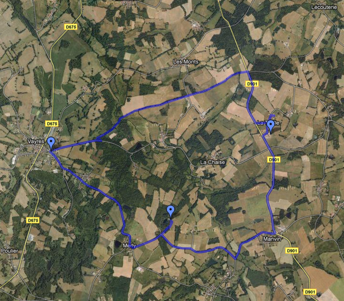 This is one of my Walks around Videix maps