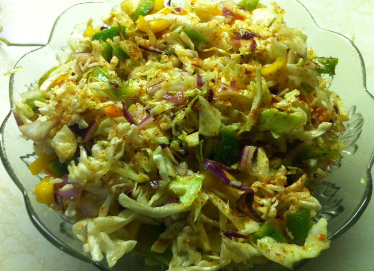 Coleslaw Oil and Vinegar Slaw With Garlic