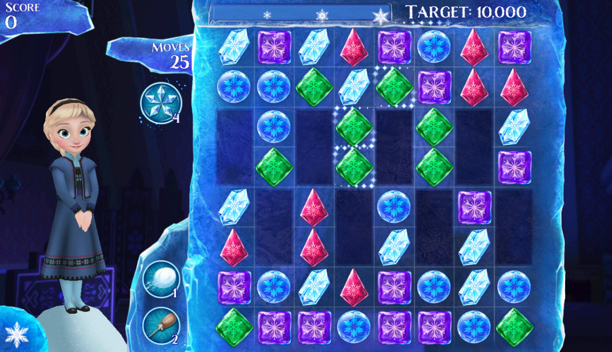 Look for Crystal Matches at the Bottom of the Board